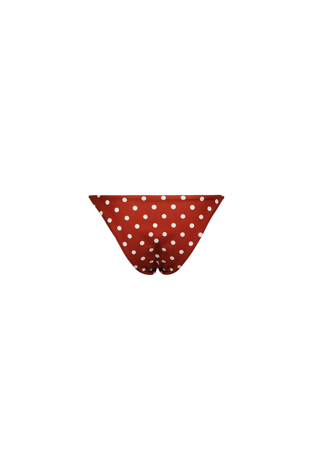 String Bottom (Brick White Polka Dot)