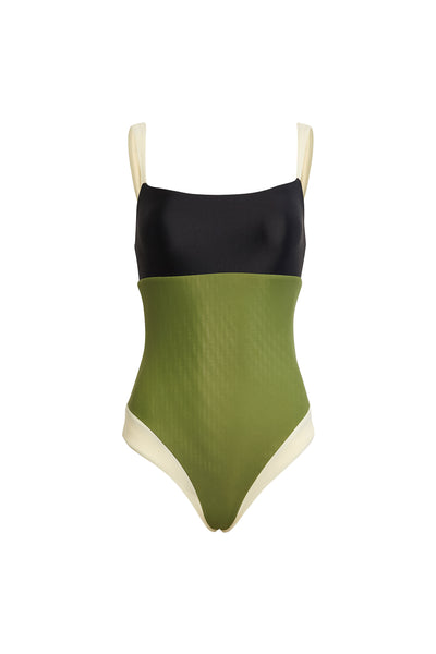 The Divine One Piece (Olive/Black/Cream)