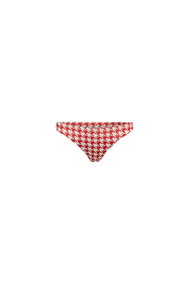Brief Bottom (Red Houndstooth)