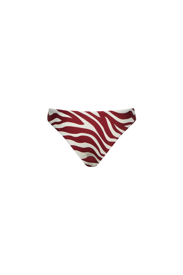 Brief Bottom (Zebra Maroon)
