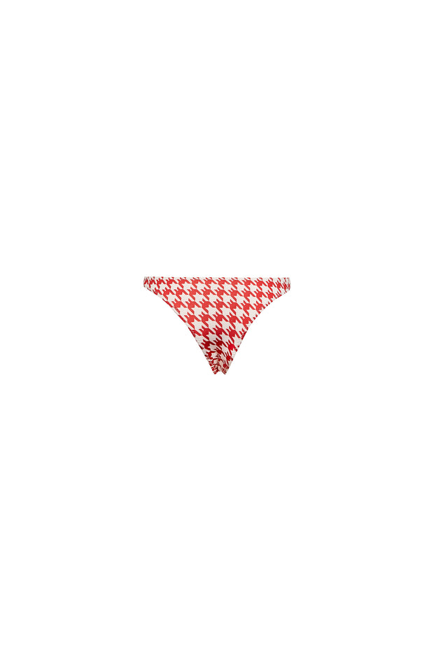 Tanning Bottom (Red Houndstooth)