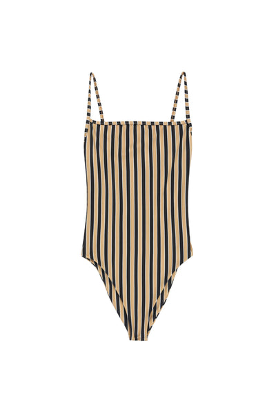 The One Piece (Tan/Black Stripe)