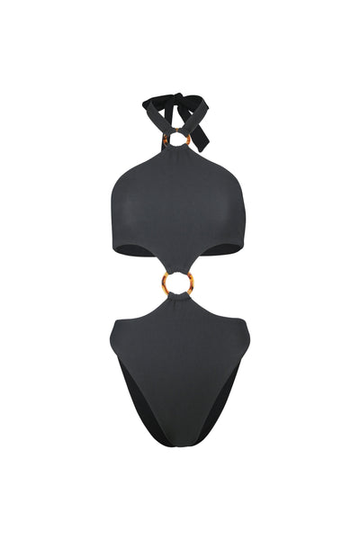 Olivia One Piece (Faux Suede Black)