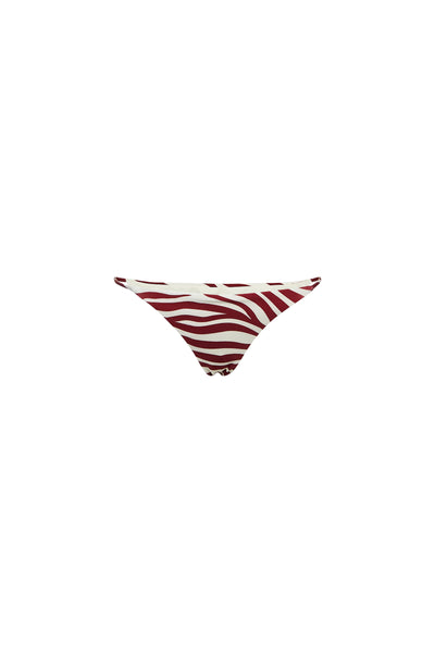 String Bottom (Zebra Maroon)