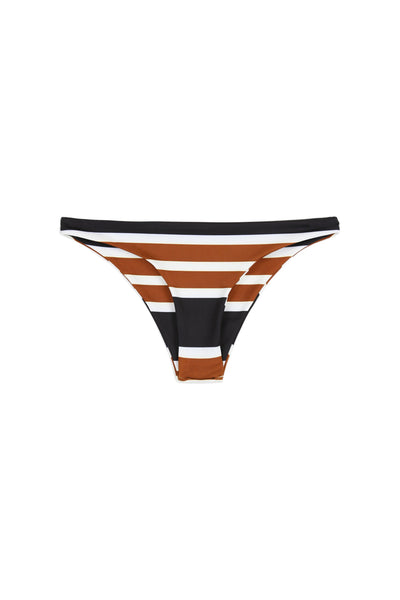 Brief Bottom (White/Black/Brown Stripe)