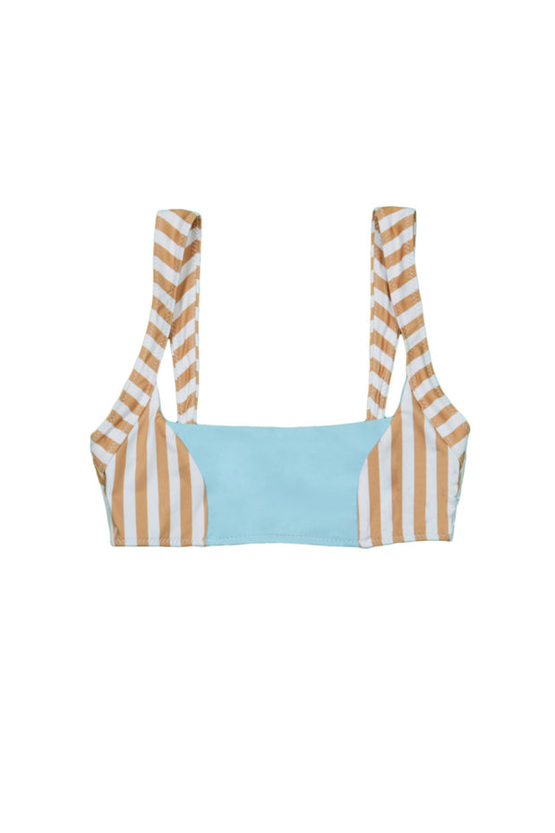 The Divine Top (Tan White Stripe/Blue)