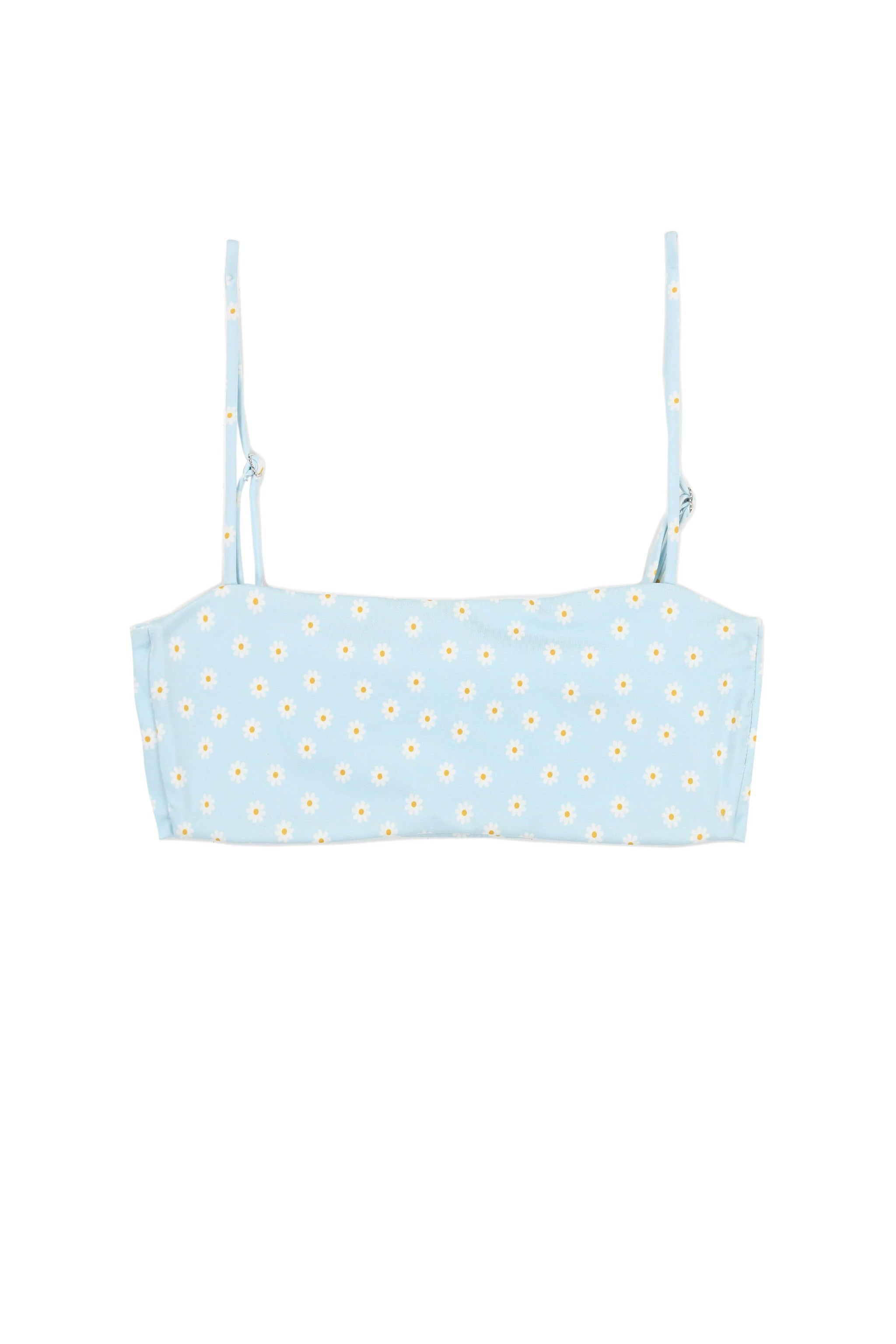 Bandeau Top (Blue Daisy)