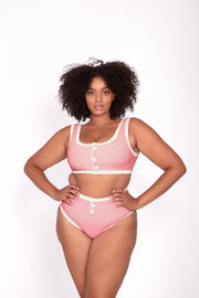 The Grace Vintage High Rise (Ribbed Blush/Cream)