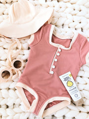 gracie one piece (ribbed blush/cream)