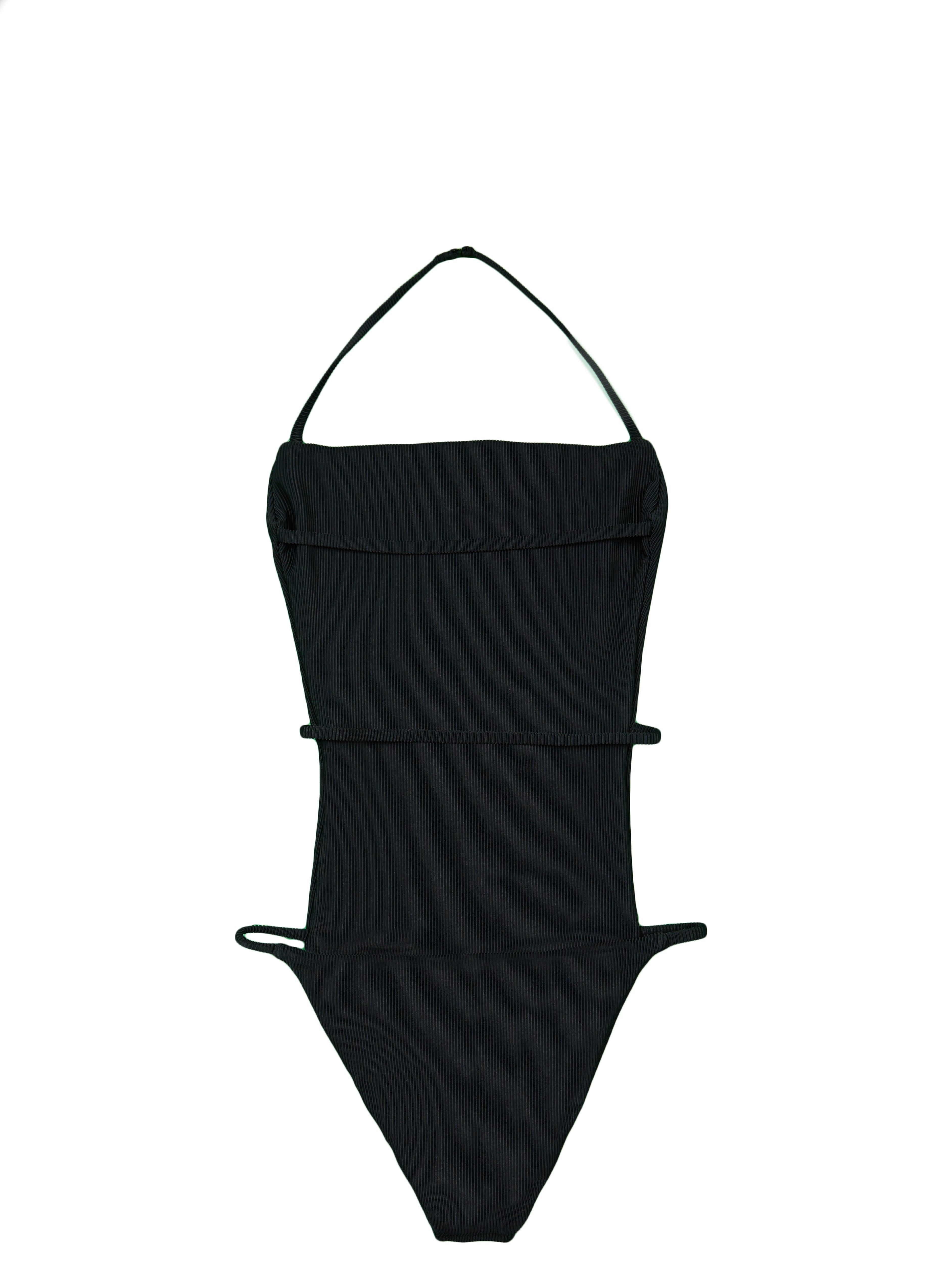 The Nina One Piece (Ribbed Black)