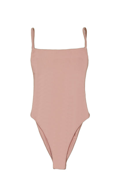 One Piece (Ribbed Blush)