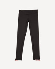 Ruffle Legging (Black/Pink)