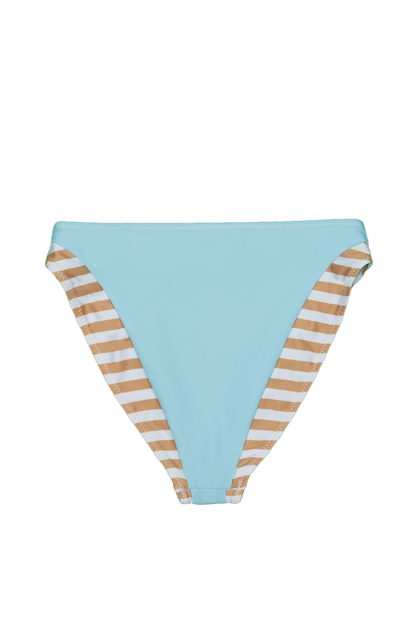 The Divine High Rise Bottom (Tan White Stripe/Blue)
