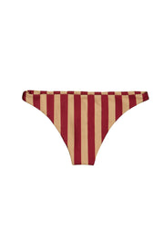 Brief Bottom (Burgundy Nude Stripe)