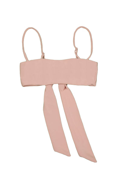 Bandeau Top  (Ribbed Blush)