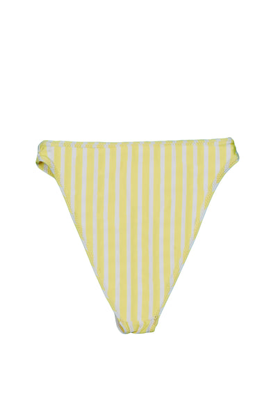 High Rise Bottom (Yellow White Stripe)