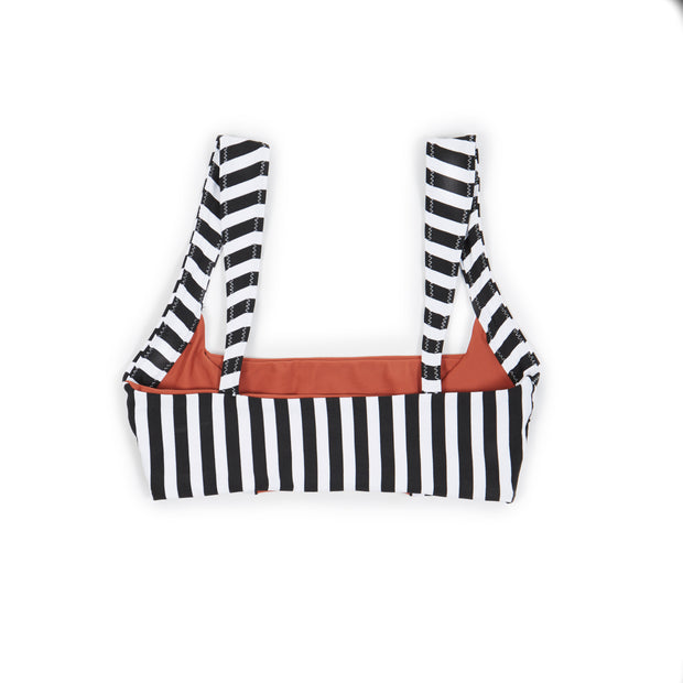 The Divine Top (Black White Stripe/Adobe)