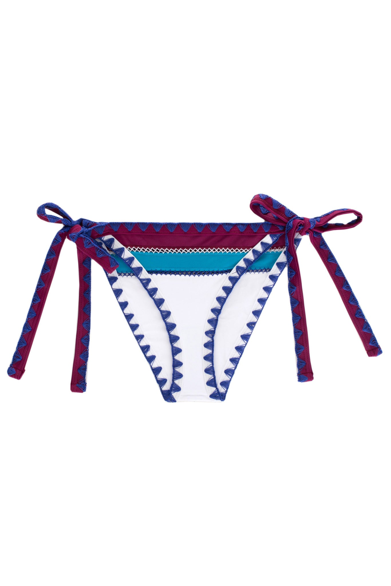 The Tease Tie Side Bottom (Sapphire Papillon)