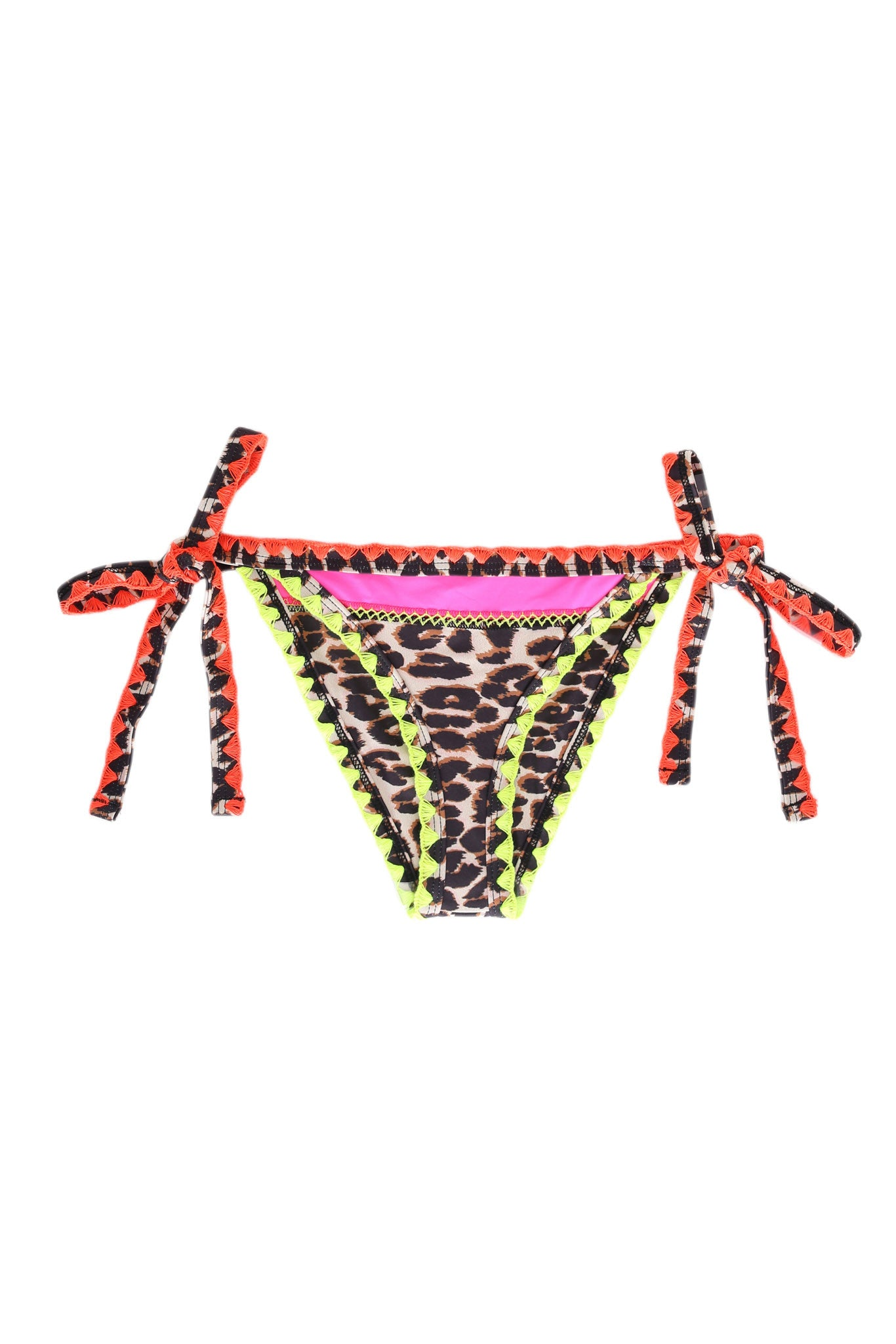 The Tease Tie Side Bottom (Electric Cheetah)
