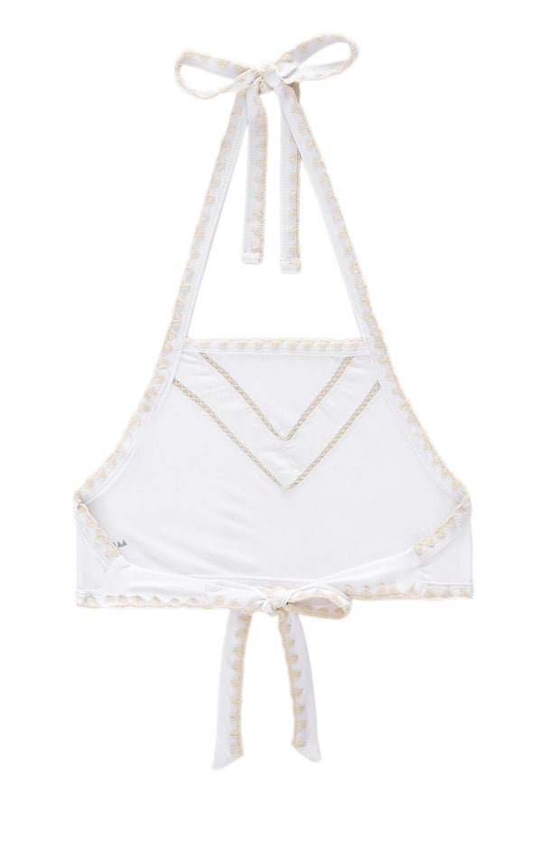 The It Girl Halter Top (Blanc/Naturel)