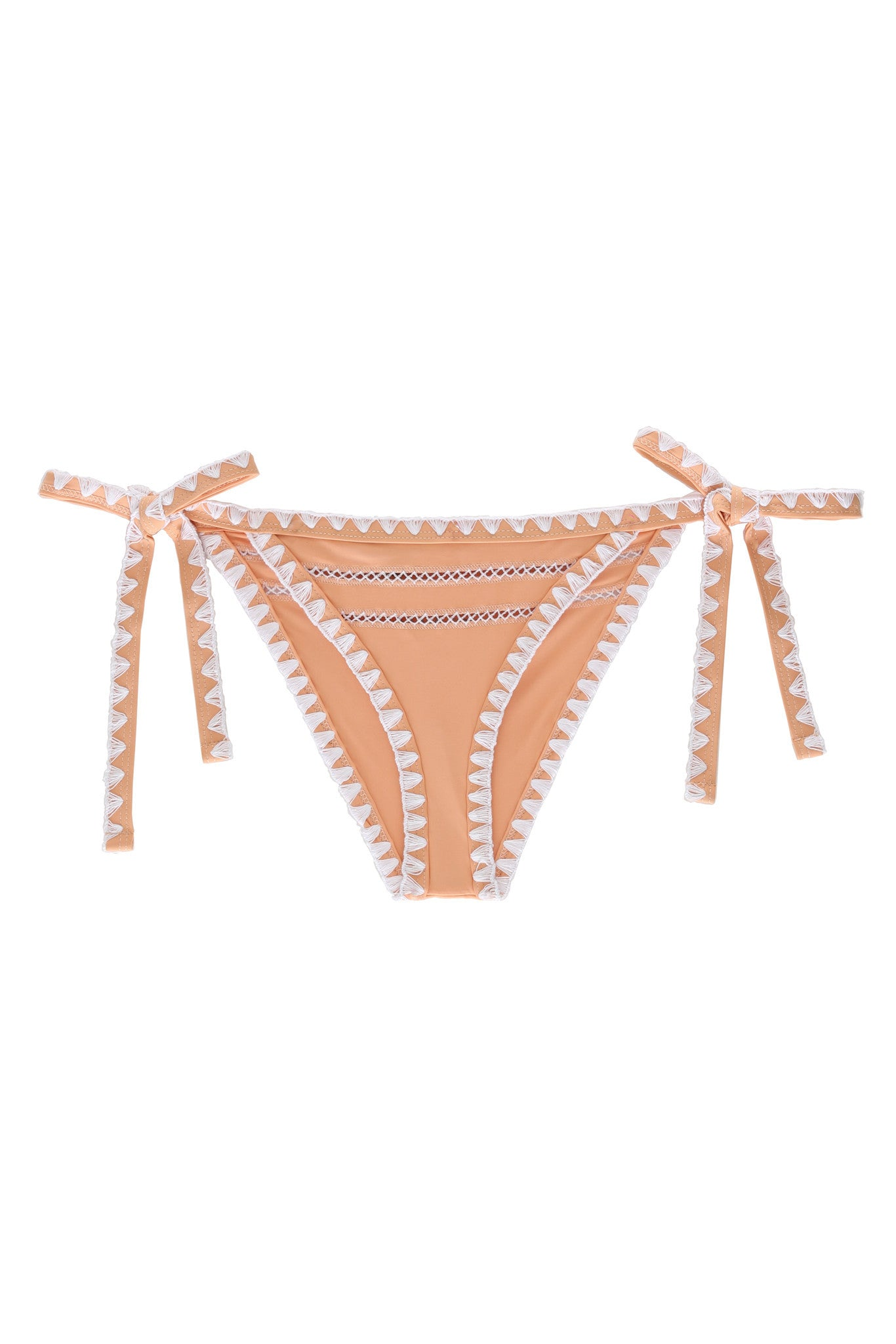The Tease Tie Side Bottom (Naturel/Blanc)