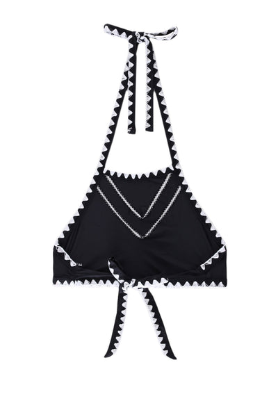 The It Girl Halter Top (Noir/Blanc)