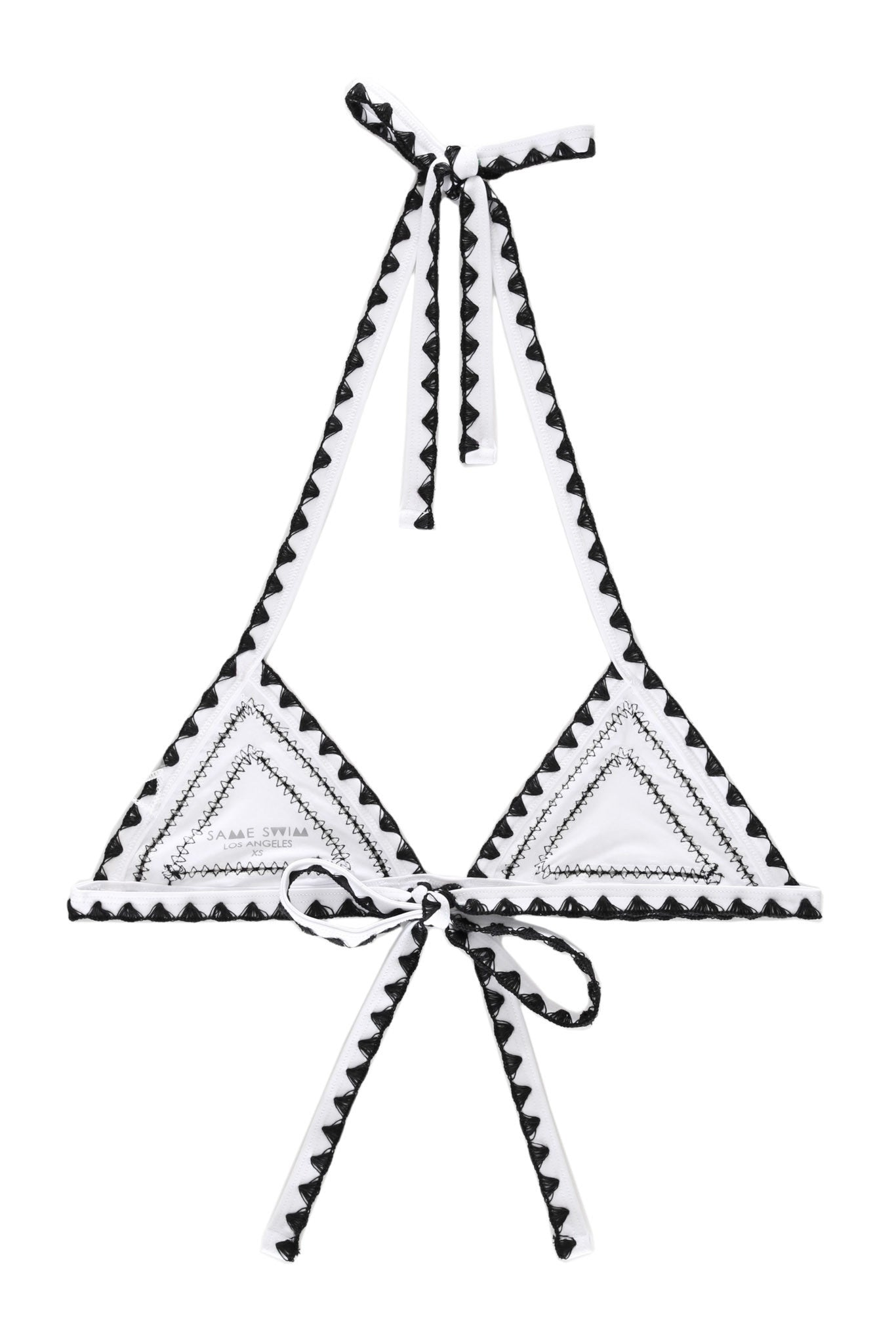 The Catch Triangle Top (Blanc/Noir)
