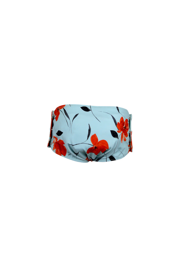 swim bloomer (blue orange floral)