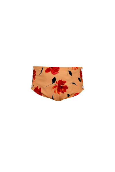 swim bloomer (peach rust floral)