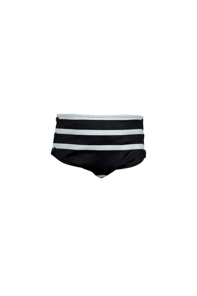 swim bloomer (black cream stripe)