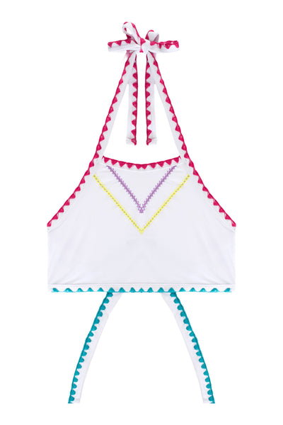 The It Girl Halter Top (White Papillon)