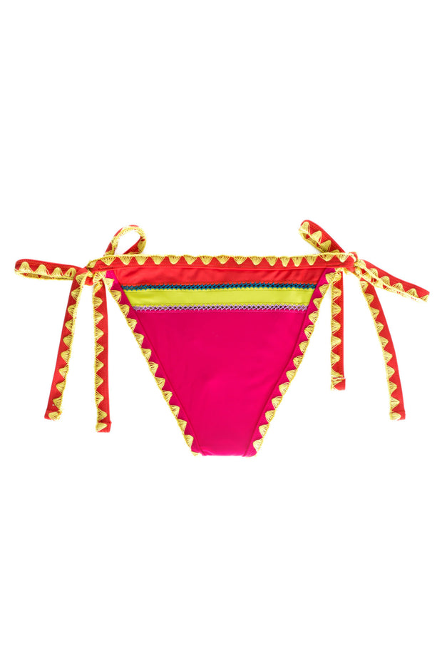 The Tease Tie Side Bottom (Orange Papillon)