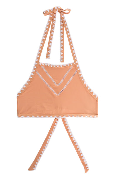 The It Girl Halter Top (Naturel/Blanc)