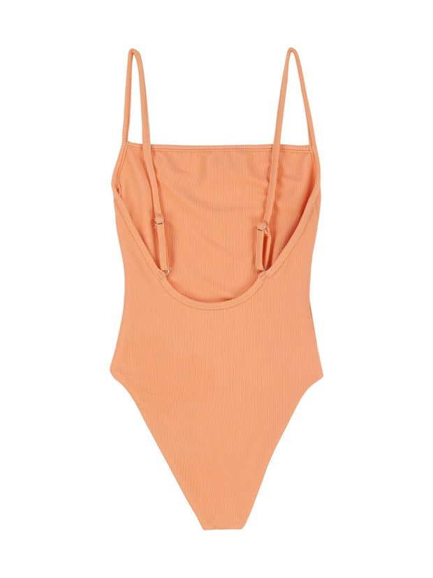 One Piece (Ribbed Orange)