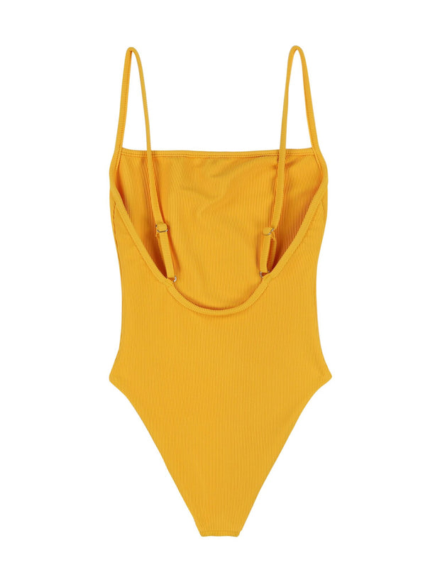 One Piece (Ribbed Yellow)