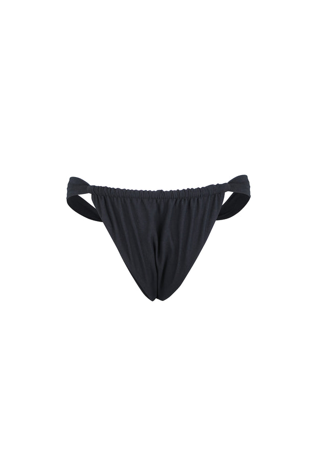Ruched Bottom (Faux Suede Black)