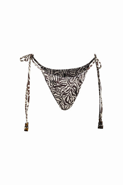 Naomi String Bottom (Ivory Zebra)