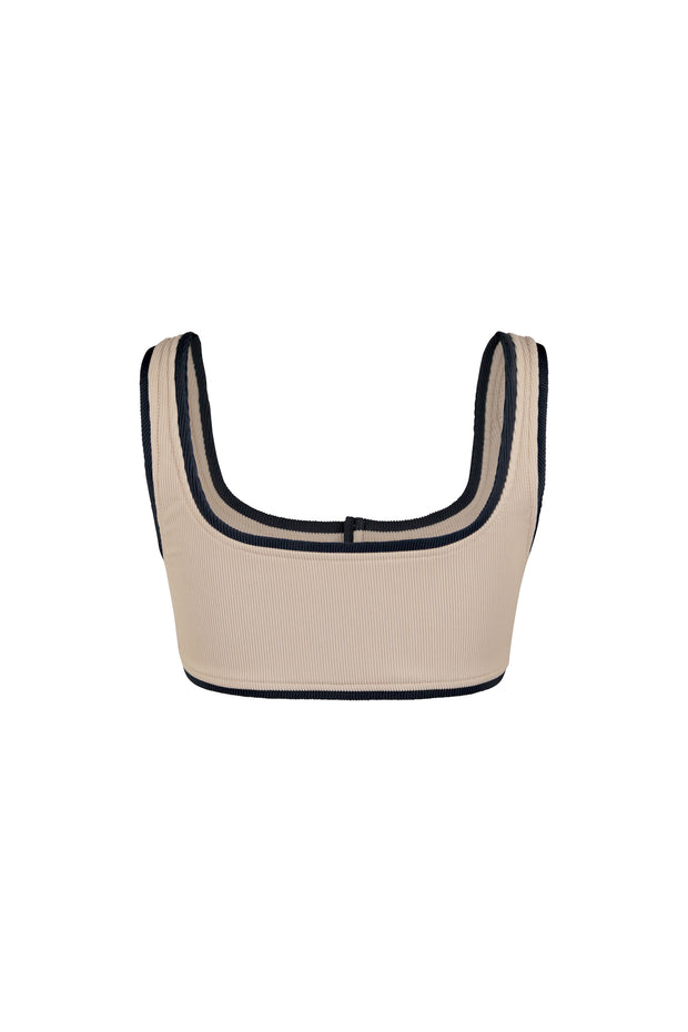The Grace Tank (Ribbed Taupe/Ribbed Black)