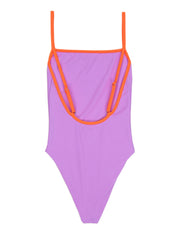 One Piece (Lavender/Neon Orange)