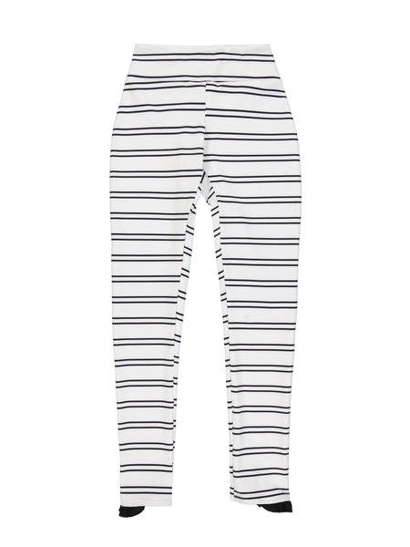 Ruffle Legging (Black&White Stripe)