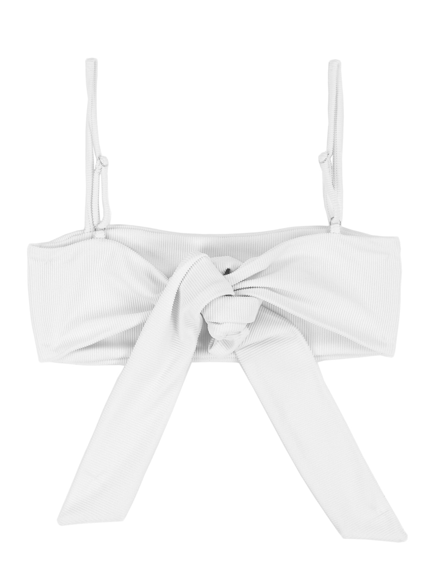 Bandeau Top (Ribbed White)