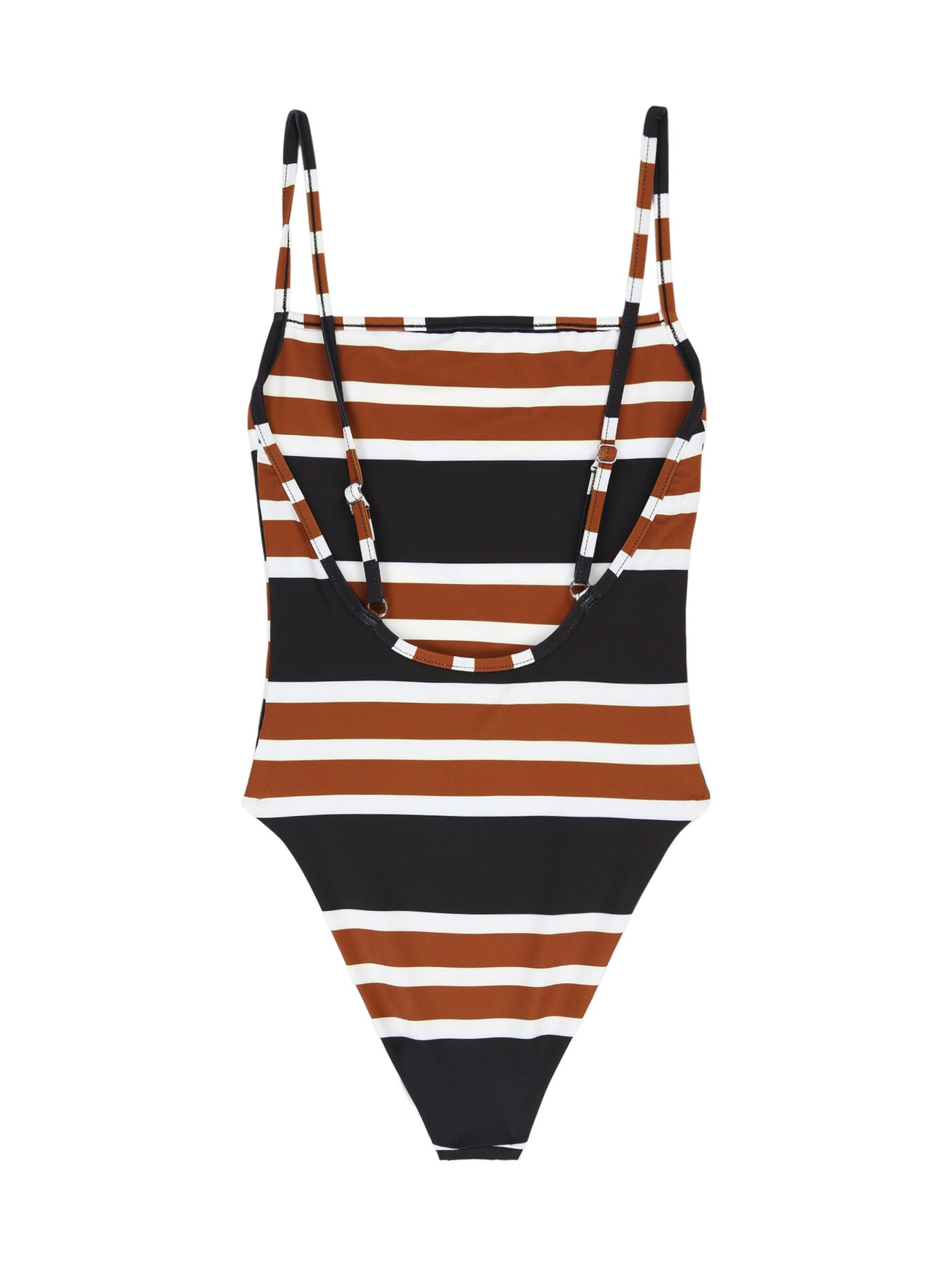 The One Piece (White/Black/Brown Stripe)