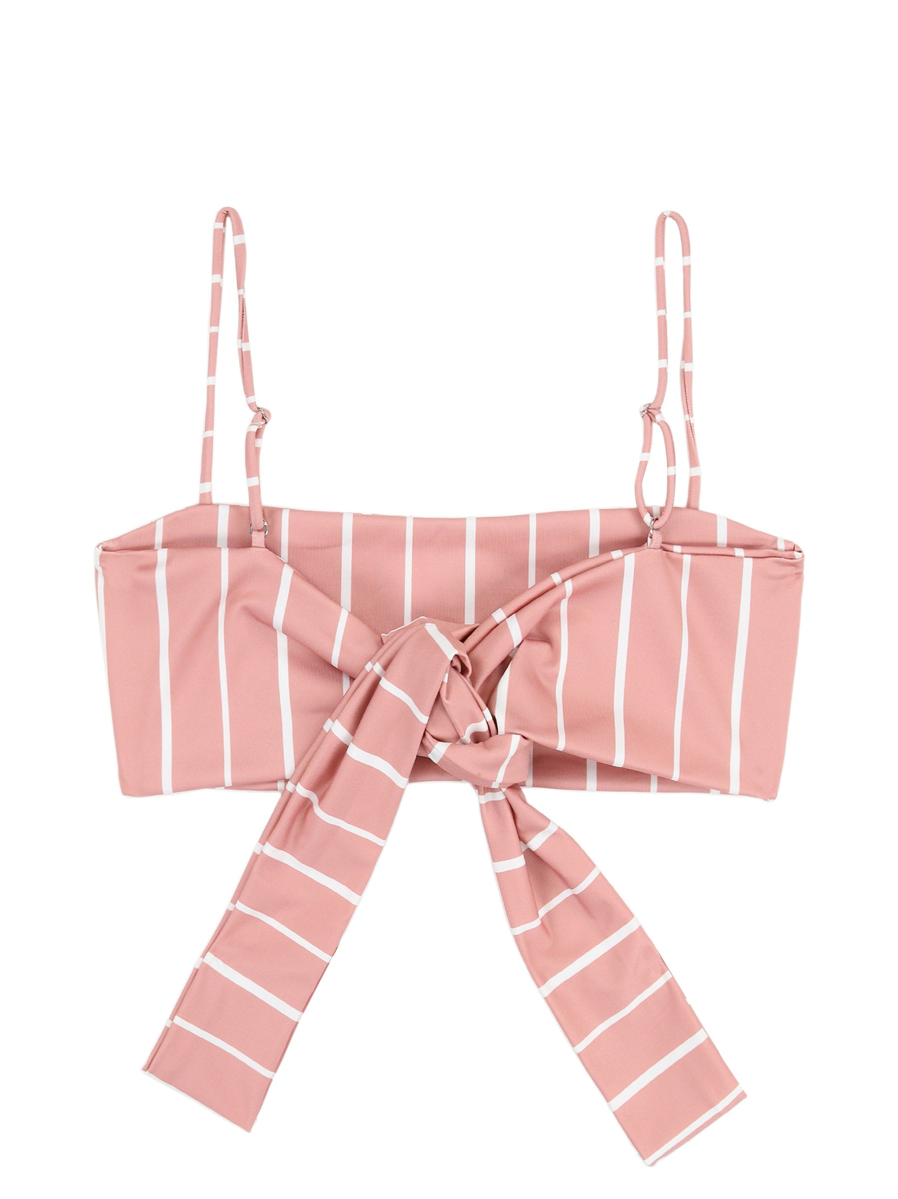Bandeau Top (Pink White Stripe)
