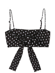 Bandeau Top (Black White Polka Dot)