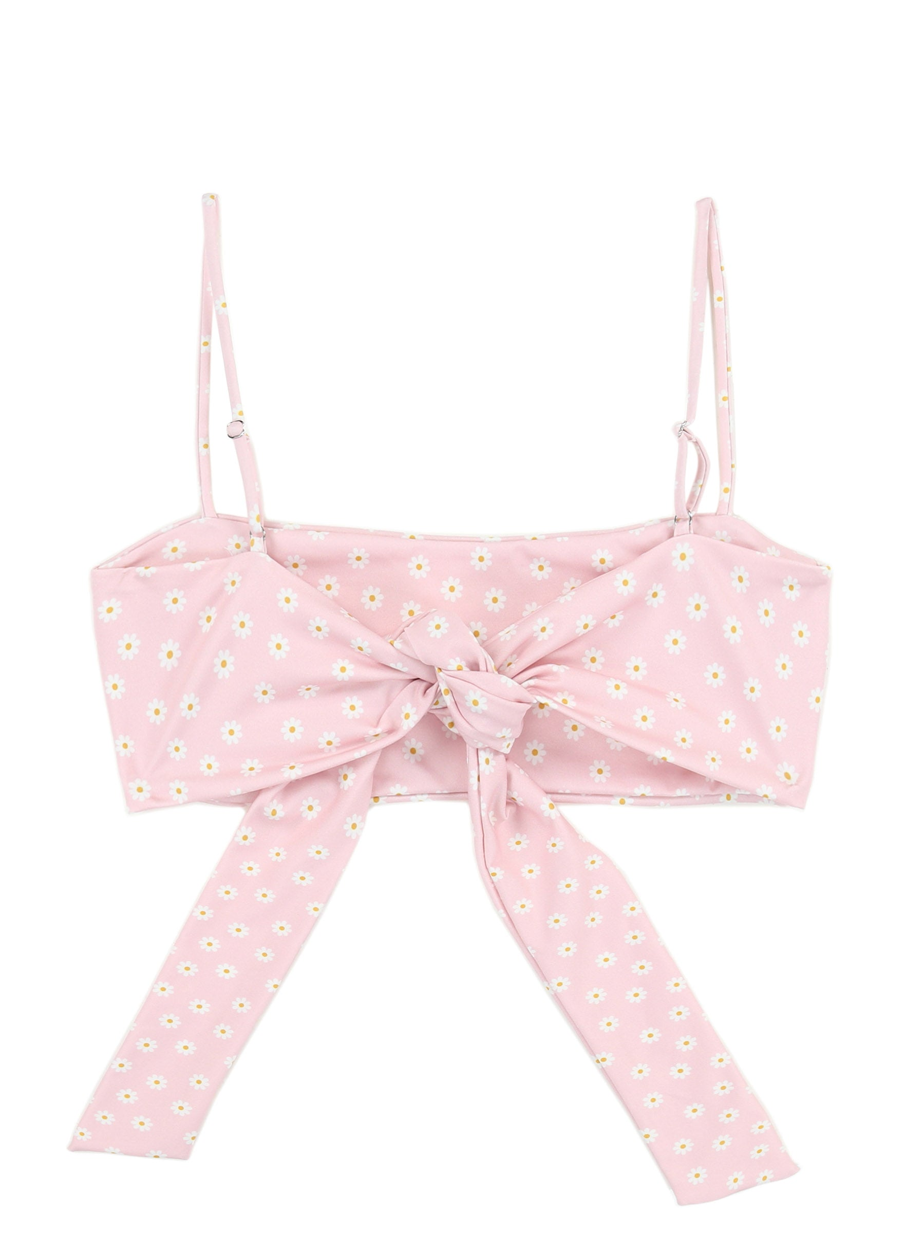 Bandeau Top (Pink Daisy)
