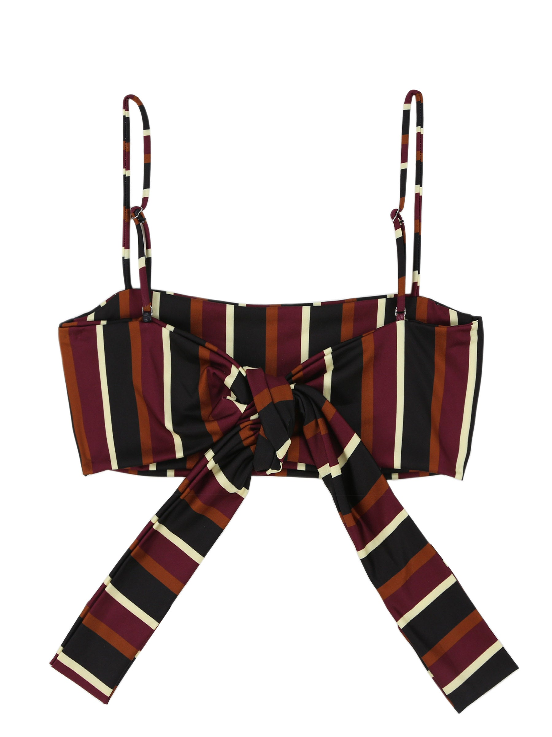 Bandeau Top (Wine Stripe)
