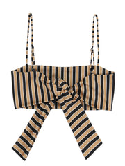 Bandeau Top (Tan/Black Stripe)