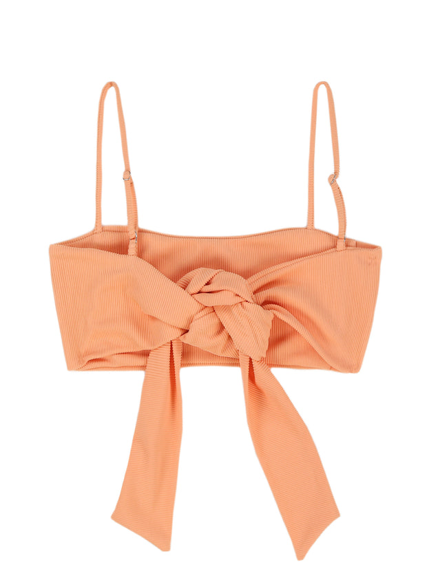 Bandeau Top (Ribbed Orange)