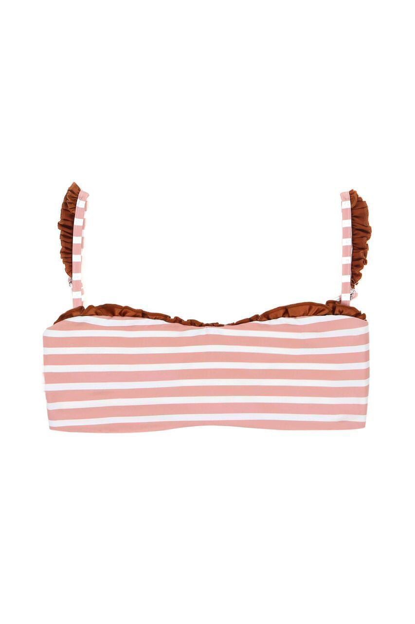 The Pin-Up Top (Pink Stripe/Rust)