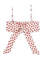 Bandeau Top (Cherry Polka Dot)